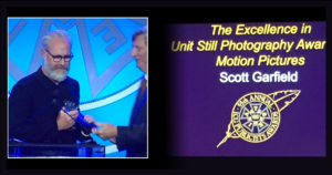 Scott Garfield,  Excellence in Unit Still Photography for Motion Picture